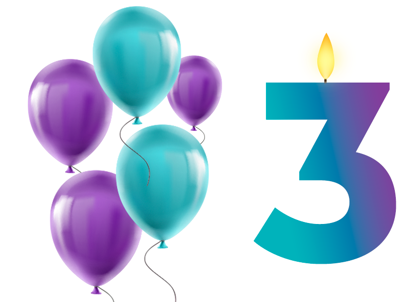 We celebrated our 3rd birthday with even more satisfied clients, exciting projects, and new team members.